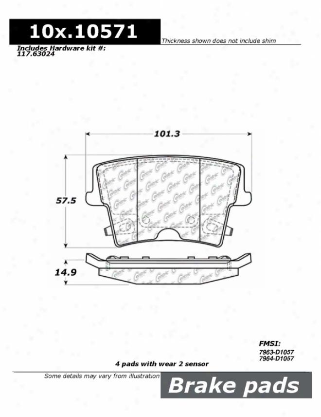 Centric Parts 100.10571 Chrysler Parts