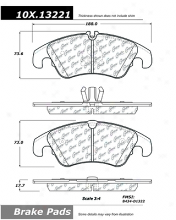 Centric Parts 104.13221 Cadillac Semi Metalic Brake Pads