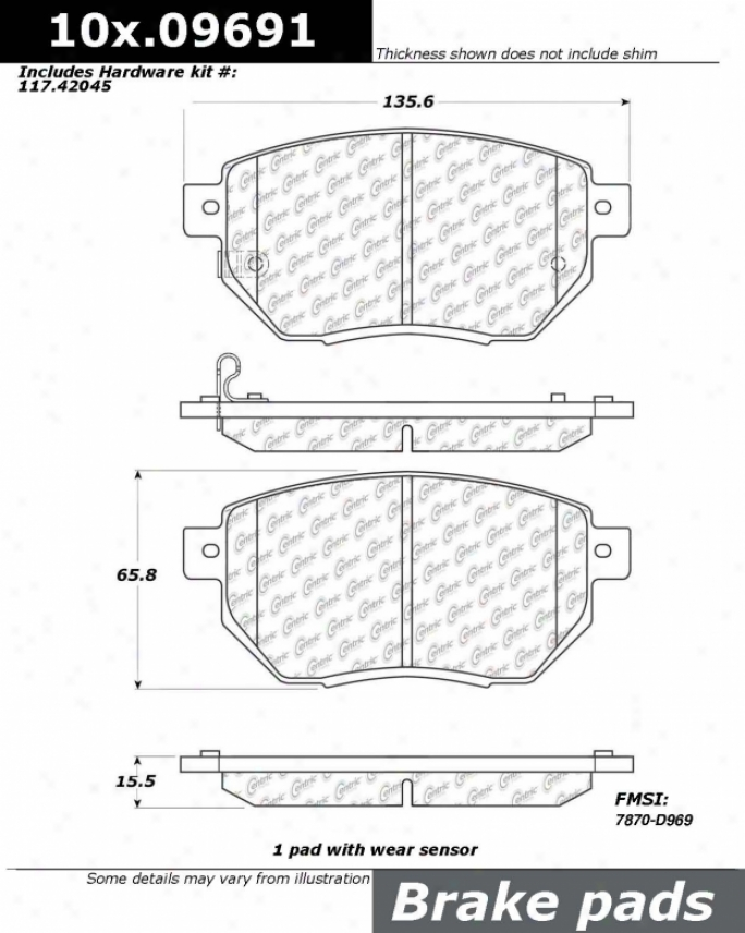 Centric Talents 106.09691 Ford Semi Metalix Brake Pads