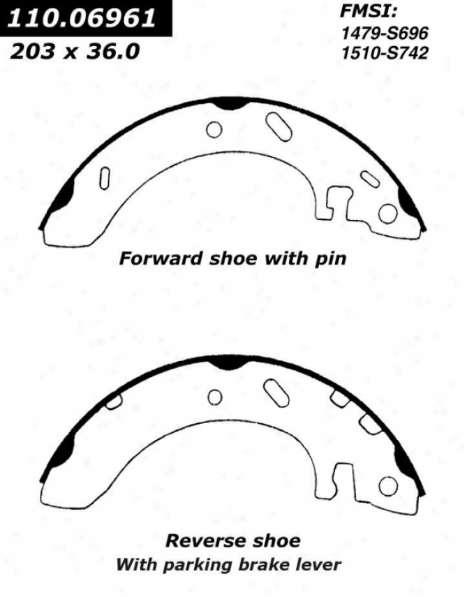 Centric Parts 111.06961 Dodge Brake Shoes