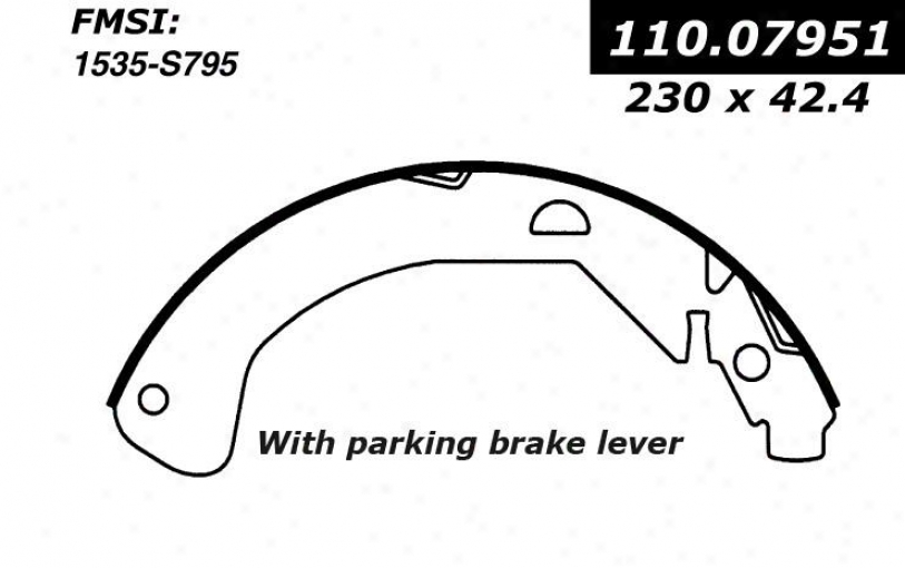 Centric Parts 111.07951 Chevrolet Brake Shoes