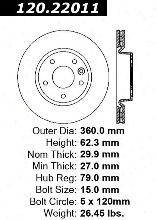 Centric Parts 120.22011 Land Rover Disc Brake Rotor Hub