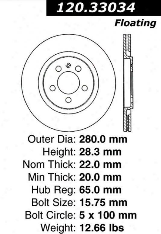 Centric Parts 120.33034 Audi Parts