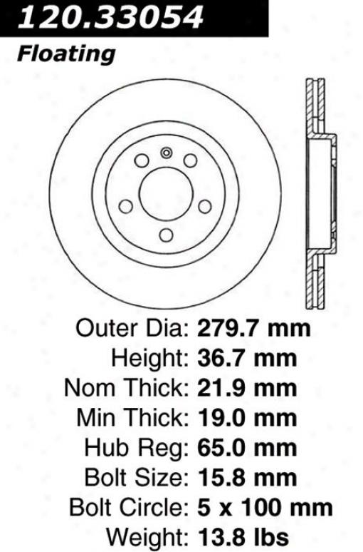Centric Quarters 120.33054 Audi Disc Brake Rotor Hub