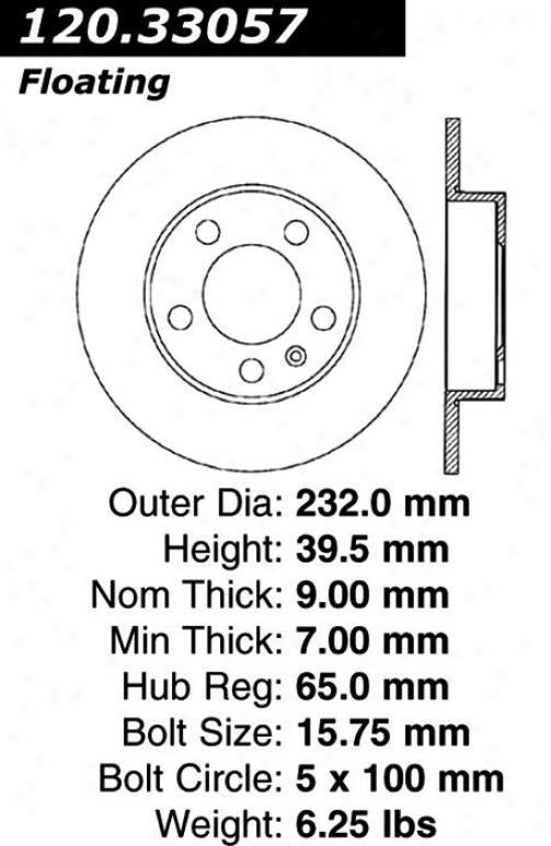 Centric Parts 120.33057 Audi Disc Brake Rotor Hub