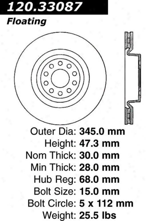 Centric Parts 120.33087 Volkswagen Parts