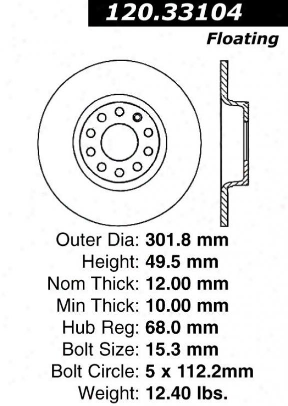 Centric Parts 120.33104 Volkswagen Parts