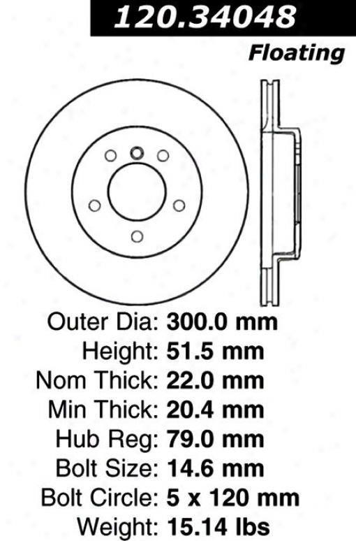 Centric Parts 120.34048 Bmw Disc Brake Rotor Hub