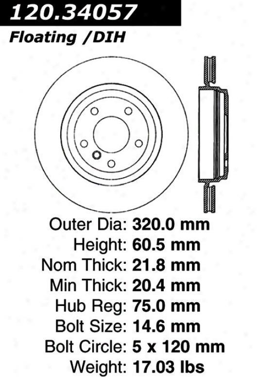 Centric Parts 120.34057 Bma Disc Brake Rotor Hub