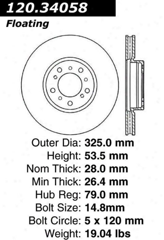 Centric Parts 120.34058 Bmw Parts