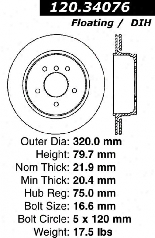 Centric Parts 120.34076 Bmw Disc Brake Rotor Hub