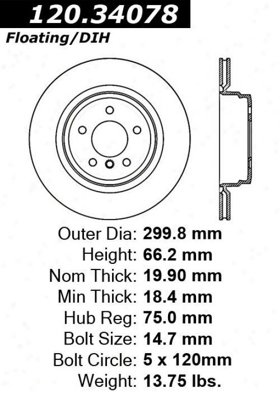 Centric Parts 120.34078 Bmw Parts