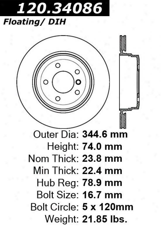 Centric Parts 120.34086 Bmw Parts