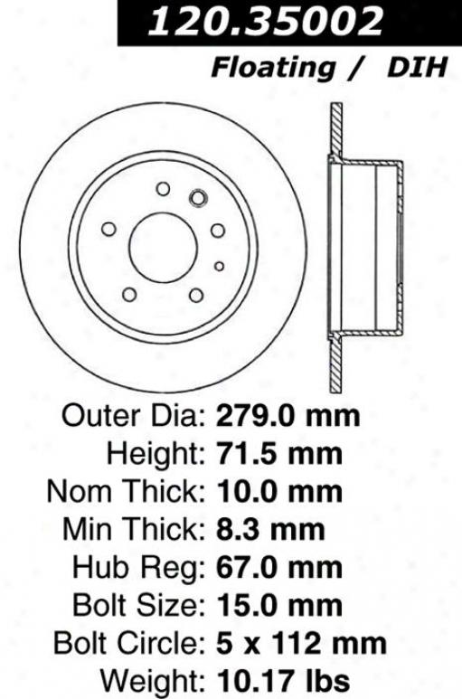 Centric Parts 120.35002 Mercedes-benz Parts