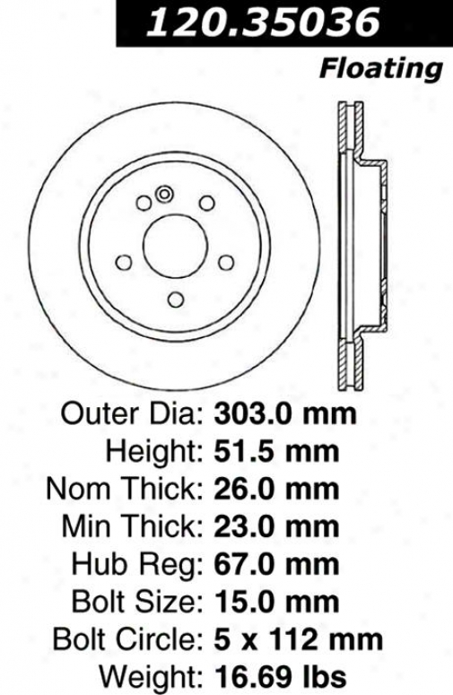 Centric Parts 120.35036 Mercedes-benz Patts