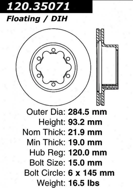 Centric Parts 120.35071 Dodge Parts