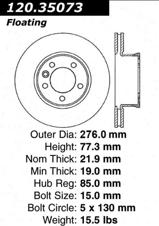Centric Parts 120.35073 Dodge Parts