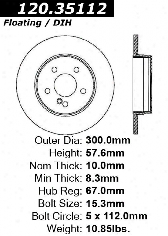 Centric Parts 120.35112 Smart Disc Brake Rotor Hub