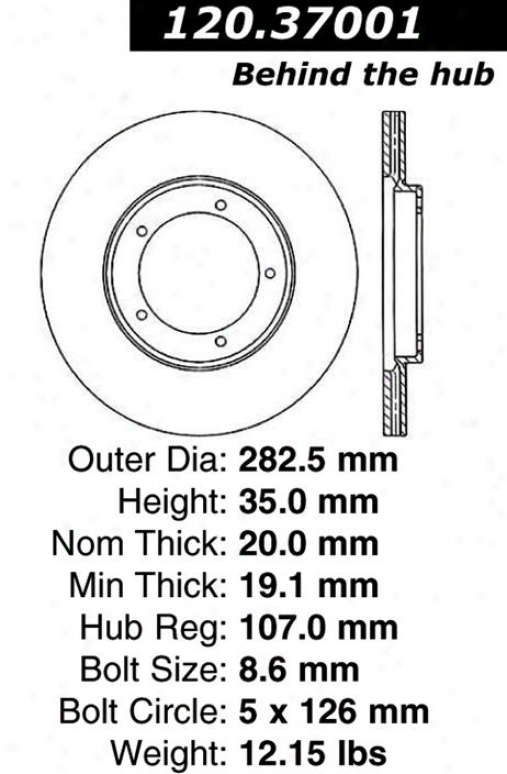Centric Parts 120.37001 Porsche Parts