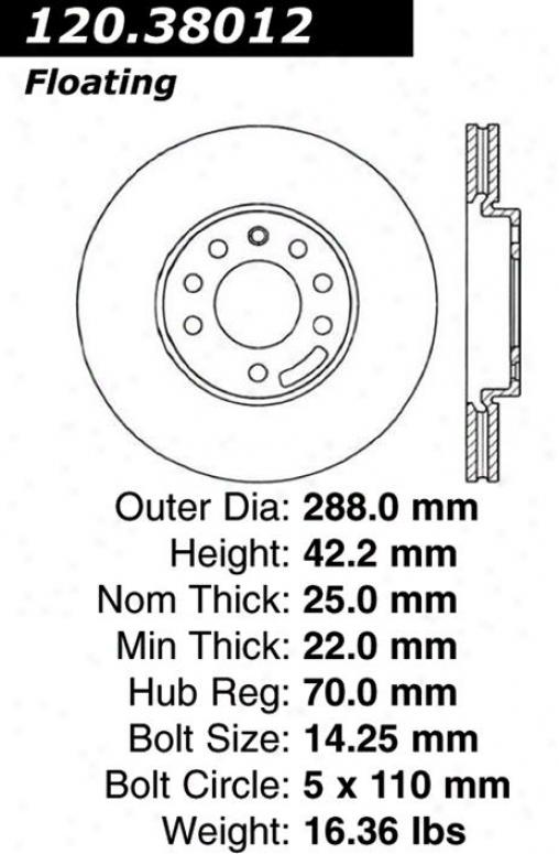 Centric Parfs 120.38012 Saab Disc Brake Rotor Hub