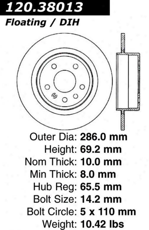 Centric Parts 120.38013 Saab Parts