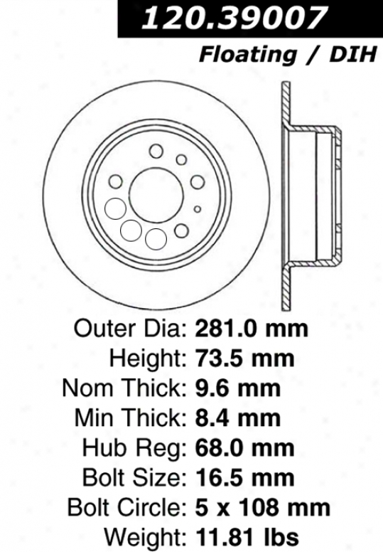 Centric Parts 120.39007 Volvo Parts