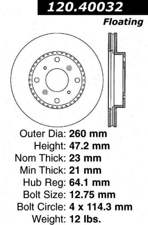 Centric Parts 120.40032 Acura Parts