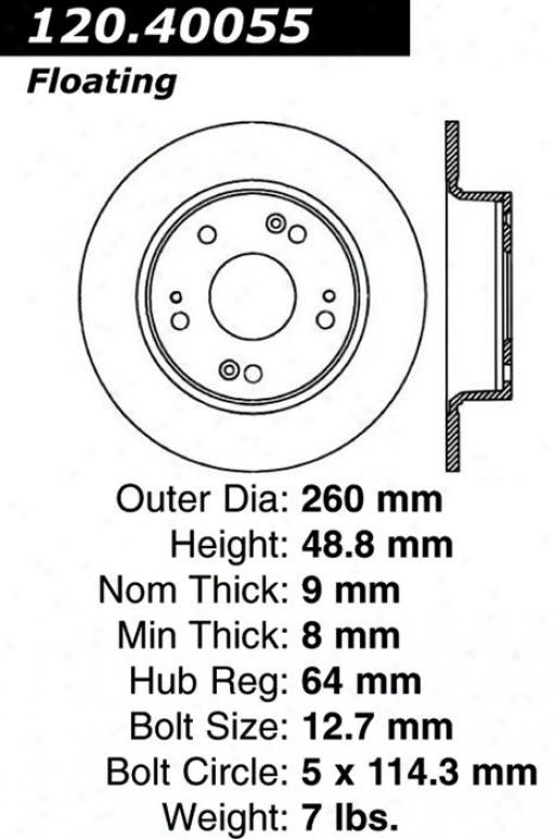 Centric Parts 120.40055 Hinda Parts