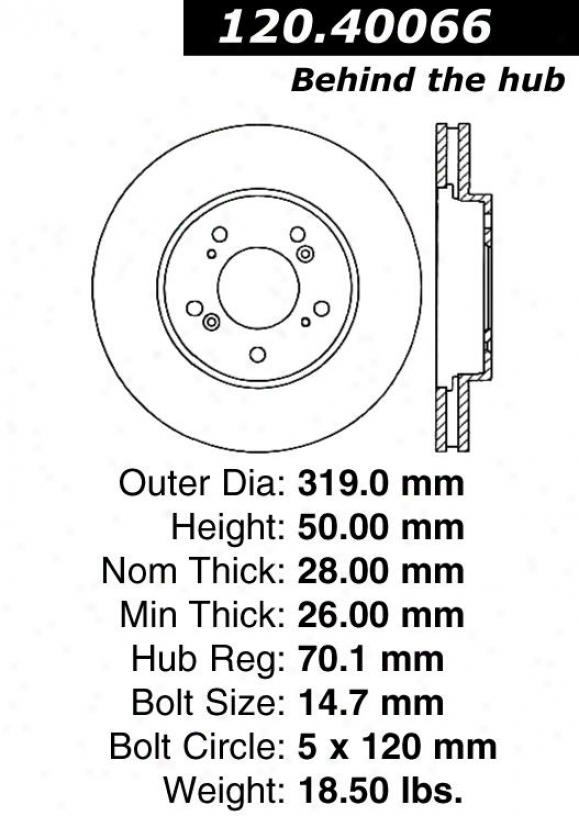 Centric Parts 120.40066 Acura Parts