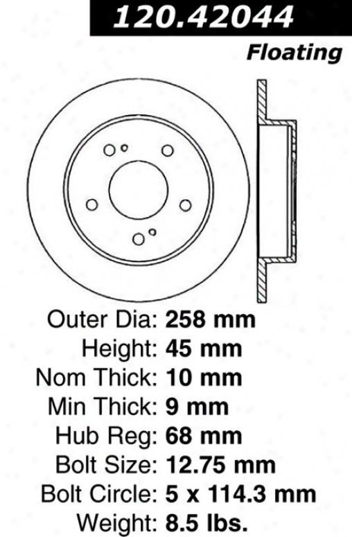 Centric Parts 120.42044 Infiniti Quarters