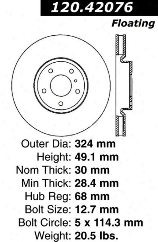 Centric Quarters 120.42076 Infiniti Parts