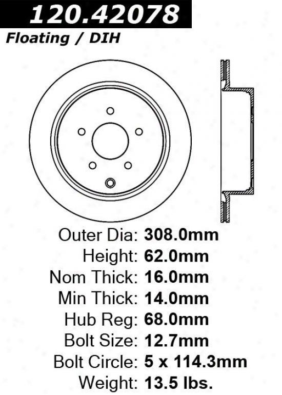 Centric Parts 120.42078 Infiniti Parts