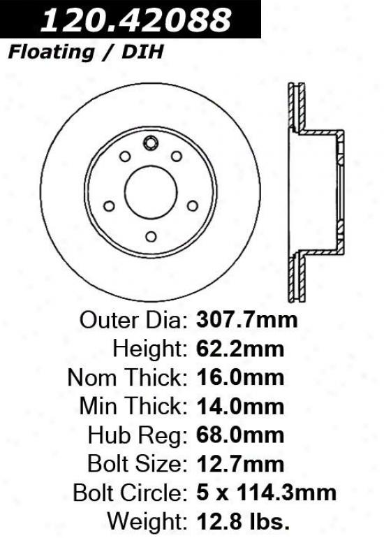 Centric Parts 120.42088 Nissan/datsun Parts