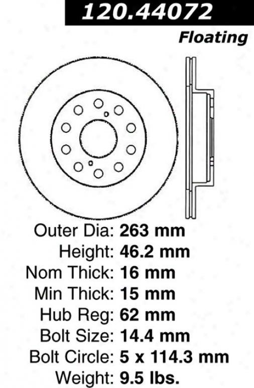 Centric Parts 120.44072 Toyota Parts