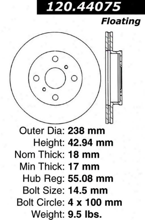 Centric Parts 120.44075 Lexus Parts