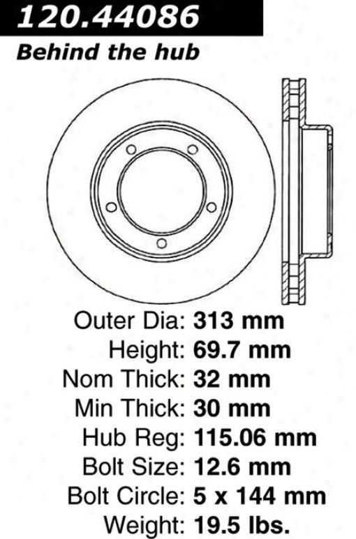 Centric Parts 120.44086 Toyota Disc Brake Rotor Huv