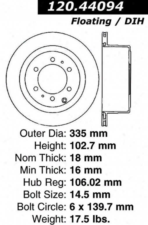 Centric Quarters 120.44094 Toyota Pats