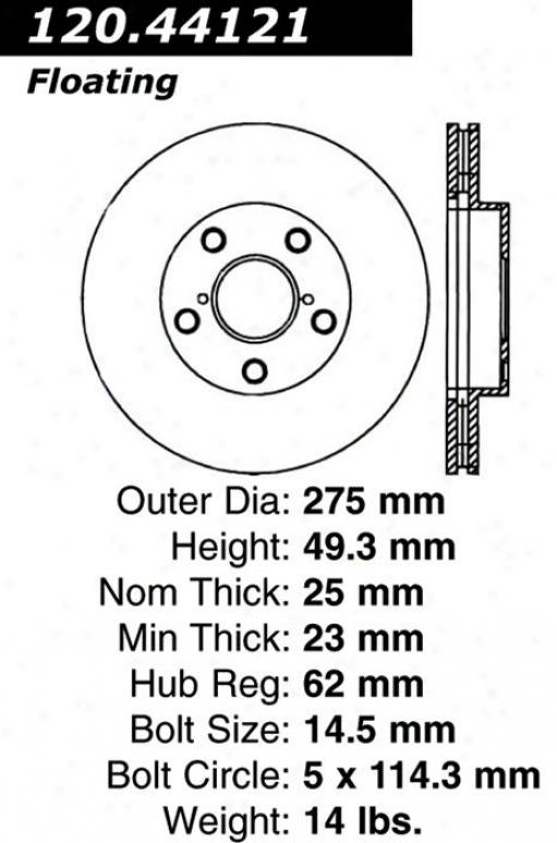 Centric Parts 120.44121 Lexus Disc Brake Rotor Hub