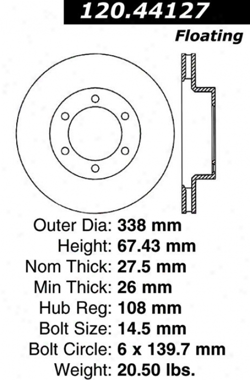 Centric Parts 120.44127 Toyota Disc Brake Rotor Hub