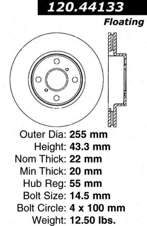 Centric Quarters 120.44133 Toyota Parts