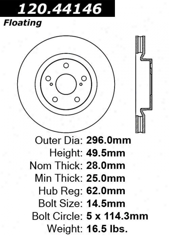 Centric Parts 120.44146 Scion Disc Thicket Rotor Hub