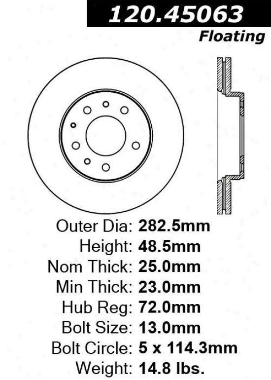 Centric Parts 120.45063 Lincoln Parts