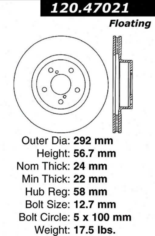 Centric Parts 120.47021 Subaru Parts
