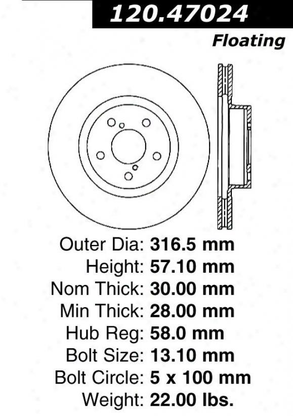 Centric Parts 120.47024 Subaru Parts