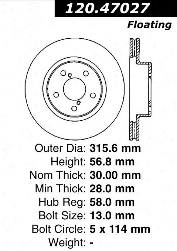 Centric Parts 120.47027 Subaru Parts