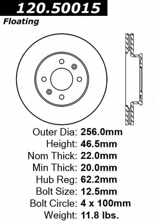Centric Parts 120.50015 Hyundai Parts