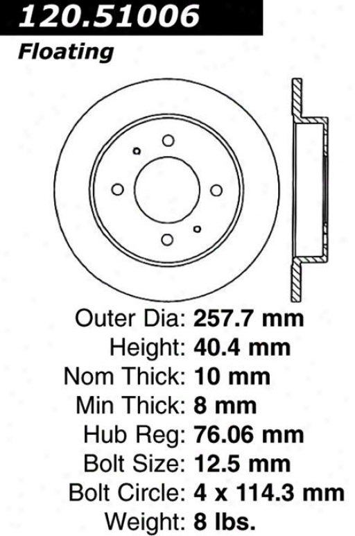 Centric Parts 120.51006 Hyunddai Parts