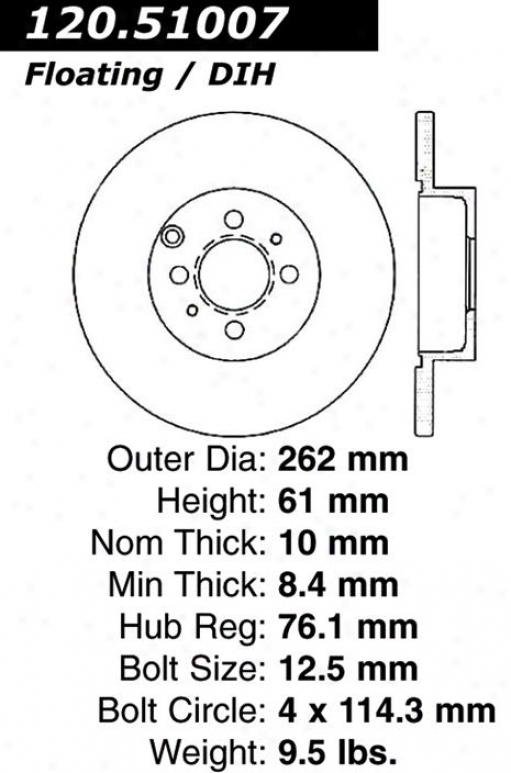 Centric Parts 120.51007 Hyundai Parts