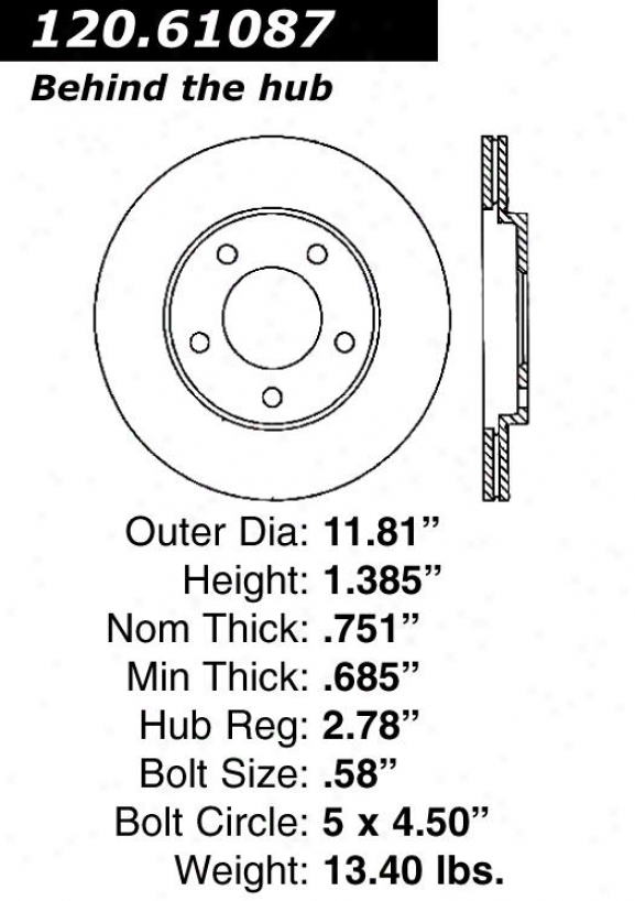 Centric Parts 120.61087 Lincoln Disc Brake Rotor Hub