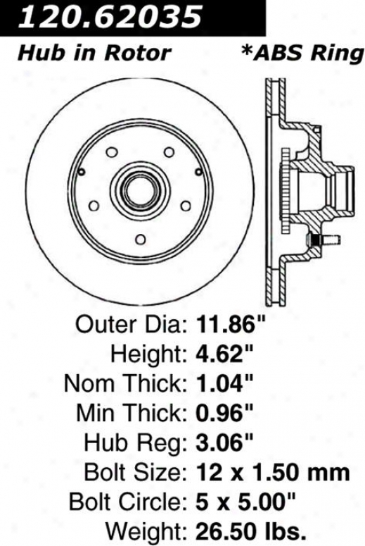 Centric Parts 120.62035 Saturn Parts